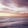 Paisaje de nubes al atardecer